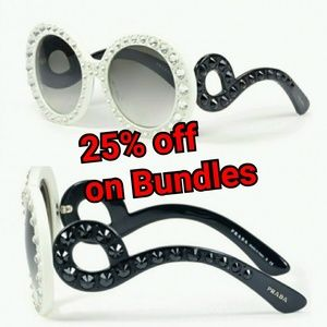 Prada Crystal Baroque spr 31p 7s3-0a7 sunglasses